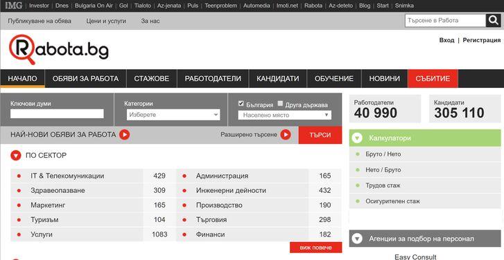 поиск работы в Болгарии через Интернет